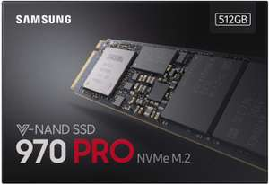 Samsung 970 PRO 512 GB V-NAND M.2 PCIe SSD at Amazon for £149.97