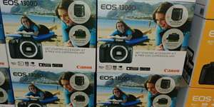 Canon EOS-1300D and kit (lens/bag/card) (CostCo Reading) - £299.96
