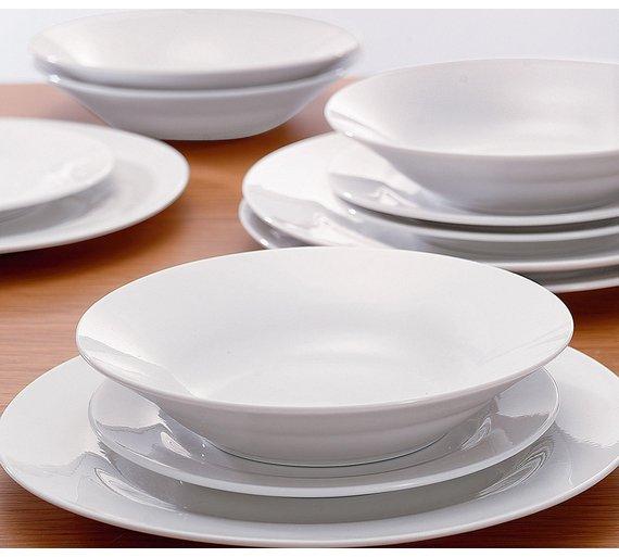 Simple Value 12 Piece Porcelain Dinner Set - White - £5.32 @ Argos