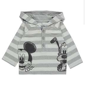 Disney Mickey Mouse Grey Striped Hooded Top (100% cotton) @ Asda George free c+c - £3.50