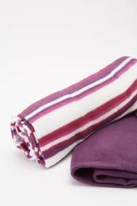 Polar Fleece Throws/Blankets Pack of  2 for £5  (+£3.95 Delivery) 4 Colour Sets from Everything 5 Pounds