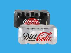 8x330ml cans of Diet or Zero Coke.£1.50 Lidl.