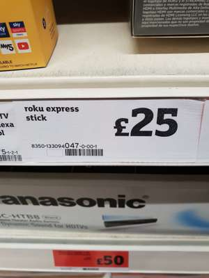Roku express stick £25 in-store at Sainsbury's