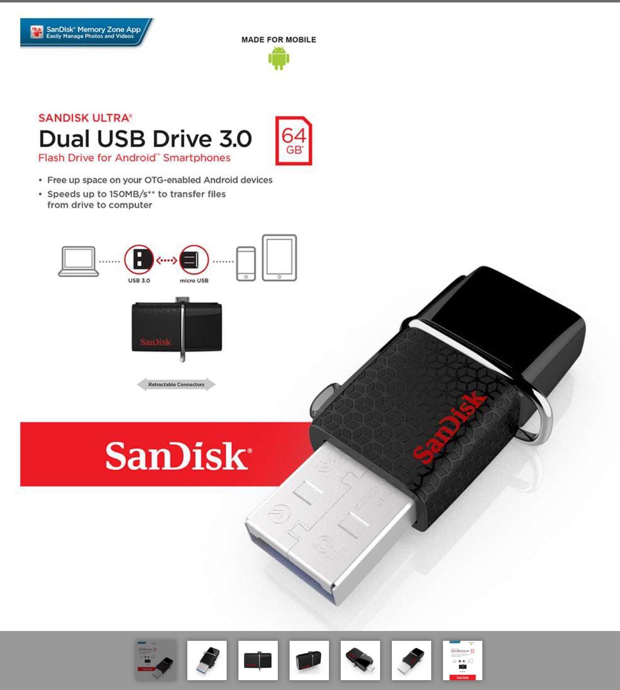 Sandisk 64GB USB3 Memory Stick £10.99 Delivered @ 7day Shop