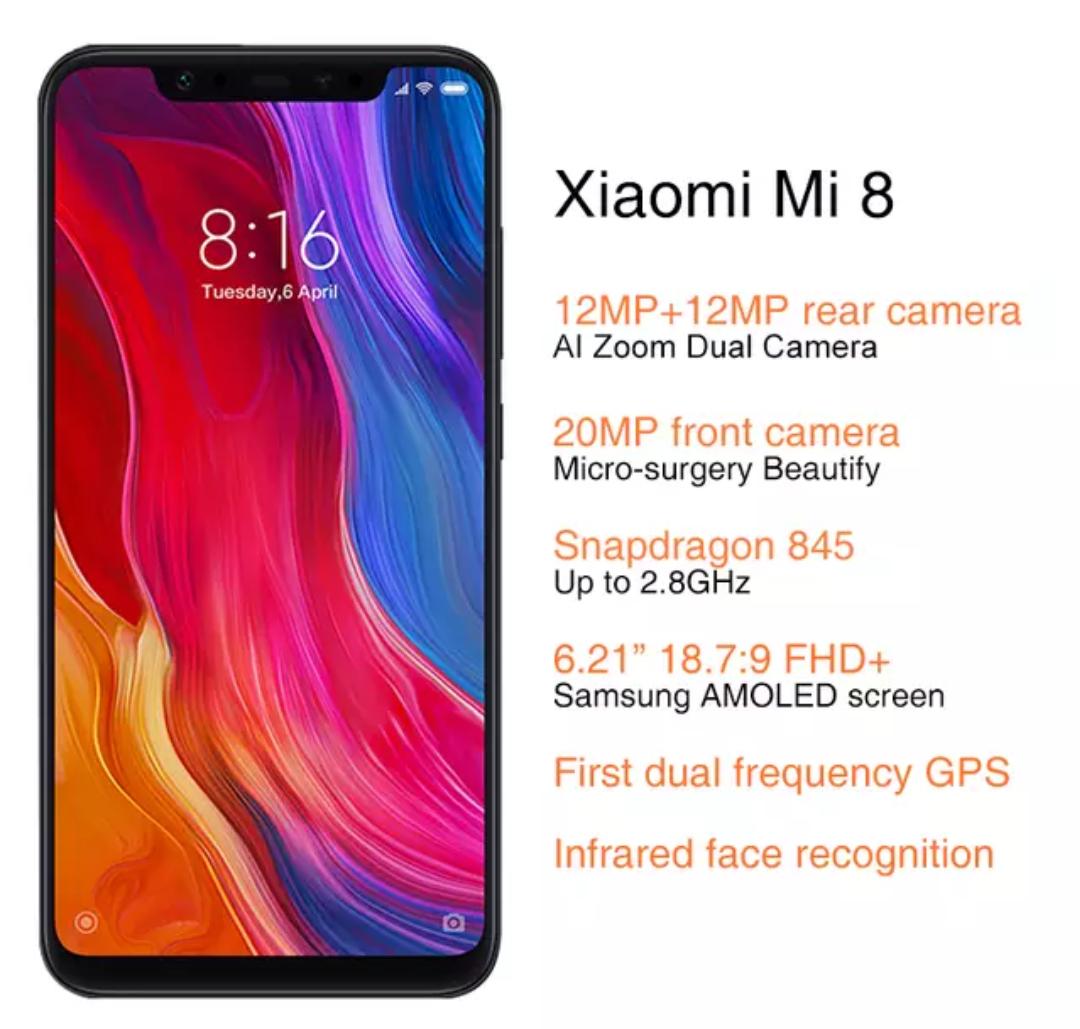 Global Version Xiaomi Mi 8 6GB 64GB (£256 @ Xiaomi Online Store/Aliexpress) & (£344 @ Amazon Germany) (£310.45 used grade A1)