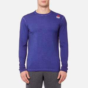 Reebok Men's CrossFit Long Sleeve T-Shirt - Deep Cobalt Blue, £13.99 delivered at The Hut