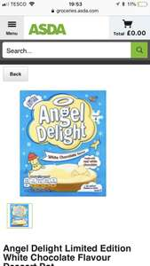 Angel Delight White Chocolate and Mint Milk Chocolate 50p at Asda