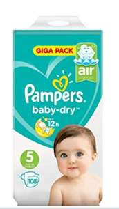 Pampers Baby Dry Size 5 Giga Pack (108) Super Pack - £5 instore (4p per nappy) @ ASDA(Wolverhampton)