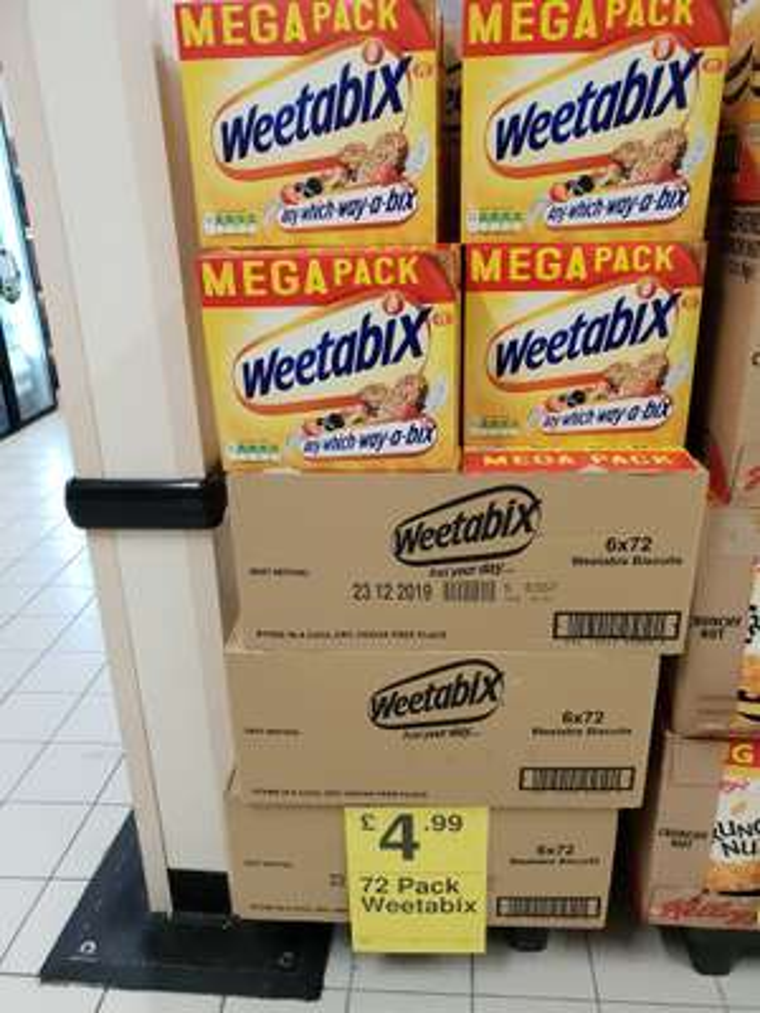 Weetabix 72 pack £4.99 at Farmfoods