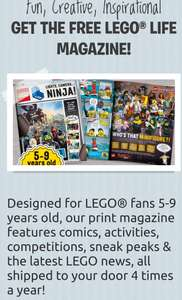 Free Lego magazine 4 times a year, features activities, competitions & comics. Next issue out in March.
