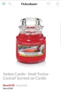Small 'Festive Cocktail' Scented Jar Candle / Yankee Candle - Small 'Frosty Gingerbread' scented jar candle Debenhams £4.50 (free C&C)