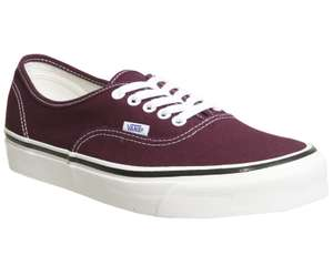 Vans Authentic in Burgundy was £54.99 now £18 + free click and collect @ Offspring