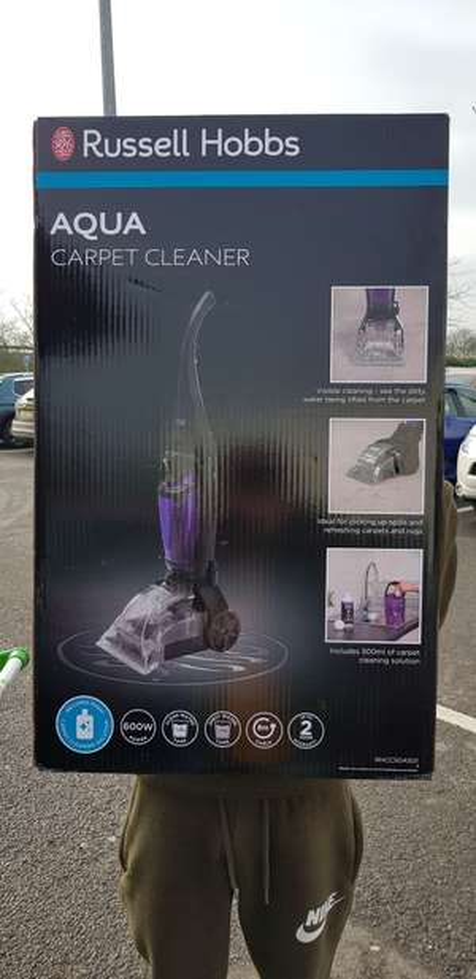 Russel Hobbs aqua carpet cleaner scanning at £58 in asda