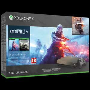 Xbox One X 1TB Gold Rush Special Edition console inc Battlefield V Bundle £449.95 @ Game