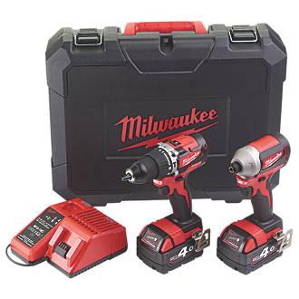 Milwaukee M18CBLPP2A-402C 18V 4.0Ah Li-Ion Red Lithium Brushless Cordless Combi Drill & Impact Driver Twin Pack £249.99 @ Screwfix