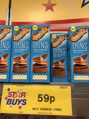 Mcvitie's Hob Nob Thins 170G 59p at Home Bargains