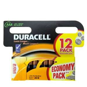 2 Packs of 12 Duracell AAA Batteries £8 @ B&M