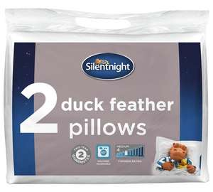 Silentnight Pair of Duck Feather Pillows - £15.33 + Free C&C @ Argos