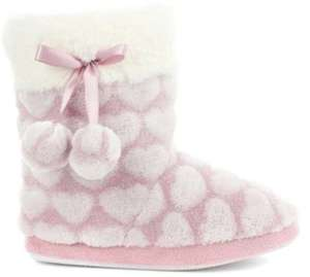 Children's Pink Heart Print Bootie Slipper £3.19 delivered @ shoe zone