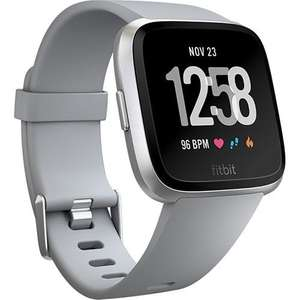 Fitbit Versa Fitness HR Smart Watch - Gray/Silver Aluminium at eglobalcentraluk for £125.39