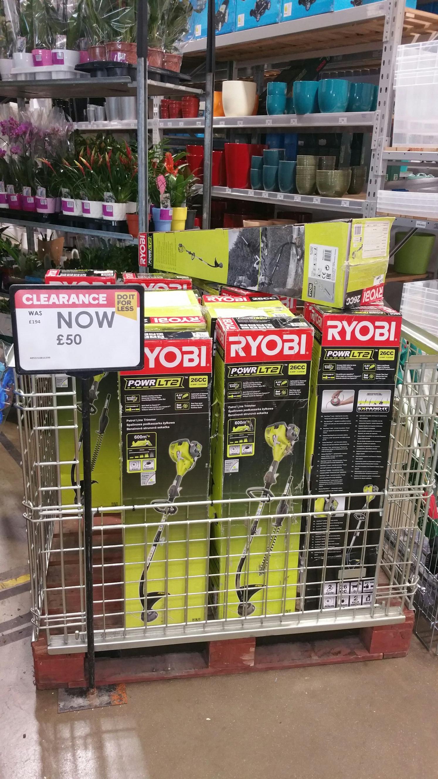 Ryobi RLT26HT 26 cc Petrol Grass trimmer & hedge trimmer kit instore at B&Q for £50