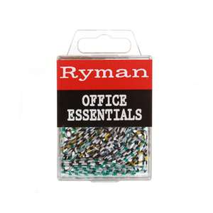 Ryman Striped Paperclips | Pack of 80 | 43p + Free C+C @ Robert Dyas