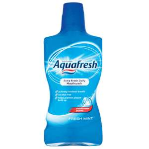 Aquafresh Freshmint Mouthwash 500ml | Reduced To £1 | Free C+C @ Robert Dyas