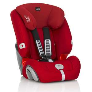 Stages 1/2/3 Britax Romer EVOLVA 1-2-3 PLUS Group 1-2-3 Flame Red Car Seat  £85 + £3.95 del at Dunelm