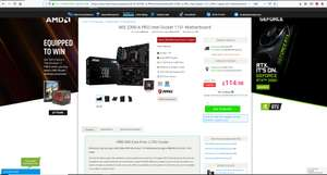 MSI Z390-A PRO Intel Socket 1151 Motherboard & Get a FREE MSI Core Frozr L Cooler which cost £50 - £114.98 @ CCL online
