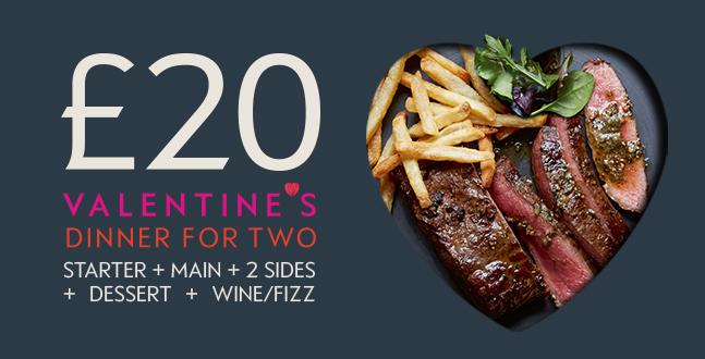 Waitrose Valentine's Day Meal Deal For Two - Starter, Mains, 2 sides Dessert & Wine for £20 @ Waitrose