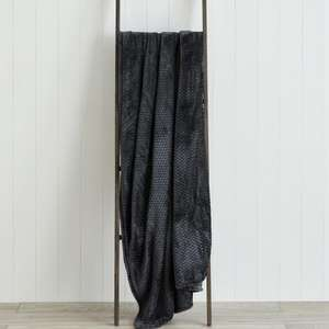 Evan Charcoal / Red Throw (130x180cm) for £5 @ Dunelm (Free C&C)