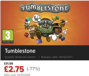 Tumblestone Switch £2.75 save 77% @ Nintendo eshop Uk