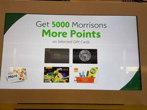 £5 back in points (5000) @ Morrisons on selected gift cards