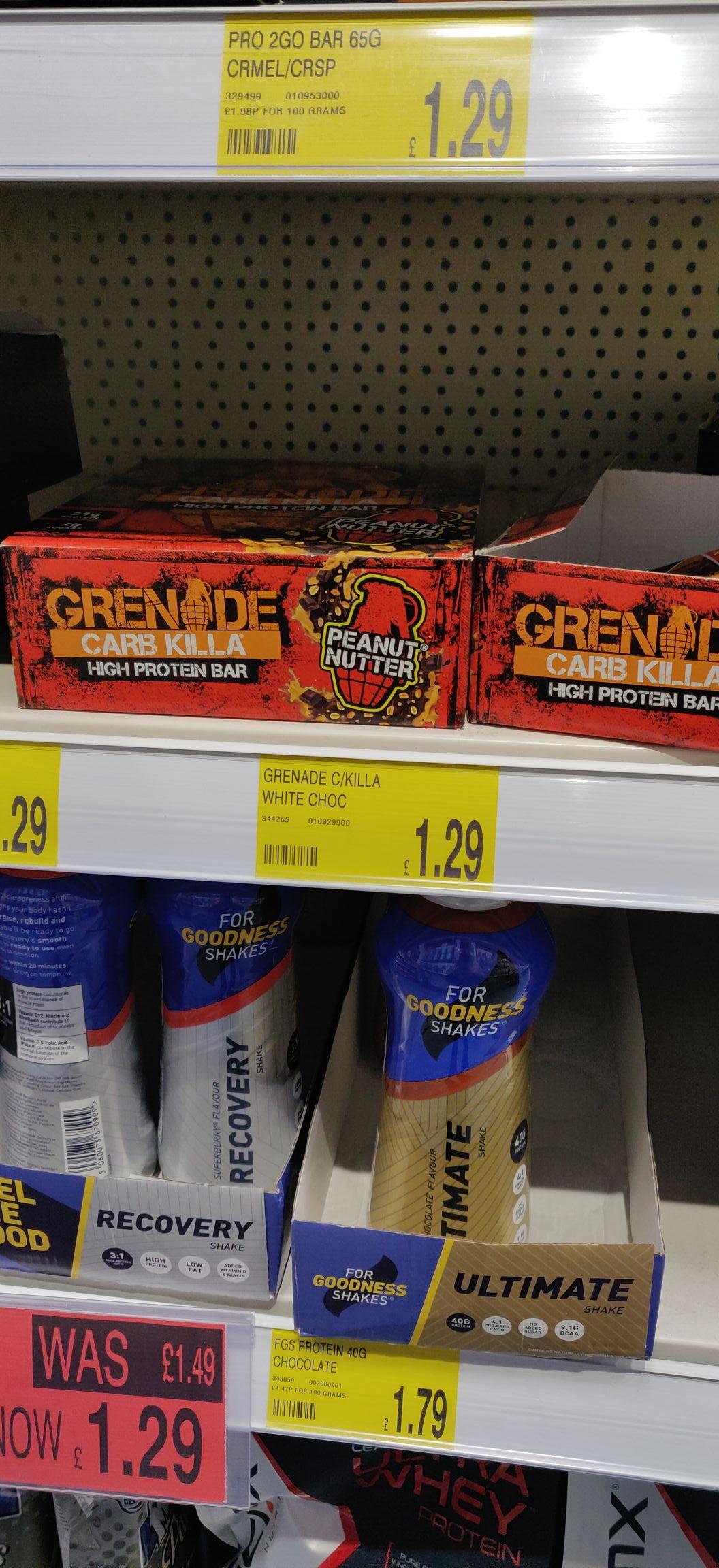 Grenade Carb killa bars back at B&M - £1.29