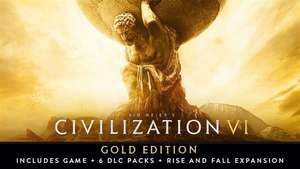 Sid Meier's Civilization VI Gold Edition Inc Game, 6 DLC packs, rise and fall expansion PC Steam Key £22.99 @ Fanatical