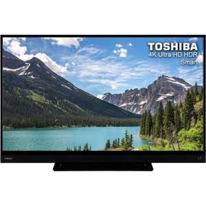 """Toshiba 43T6863DB 43"""" Smart certified 4K Ultra HD TV with HDR10 Gaming, Freeview Play and Dolby Vision - Black - [A+ Rated]  £269 @AO.com"""