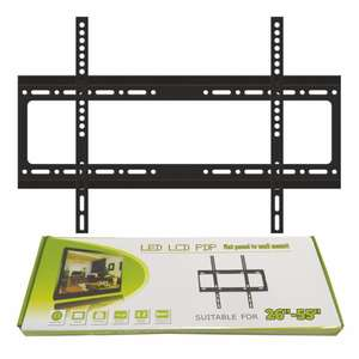 "26""-55"" Slim Tv Wall Bracket £3 + £5 shipping @ Latifs"
