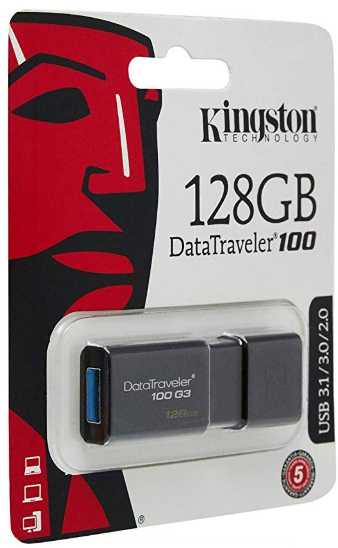 Kingston Data Traveler 100 G3 USB 3.1 Flash Drive Memory Stick 100MBs- 128GB for £16.49 Delivered @ 7Dasyhop