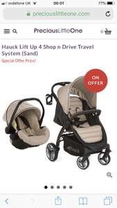 Hauck lift up 4 shop and drive Travel System in Sand (+ free delivery) £138.95 @ PreciousLittleOne