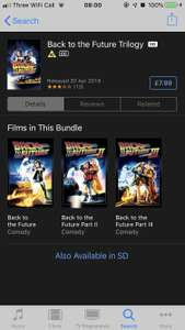 Back to the Future Trilogy (HD) £7.99 on iTunes