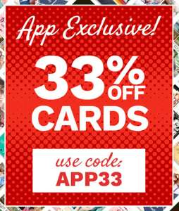 33% ALL CARDS AT FUNKYPIGEON USING THEIR APP. TODAY ONLY!
