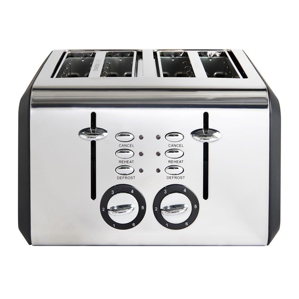 4 Slice Matt Black Toaster with Cord Storage & 2 yr guarantee Was £25 Now £16 @ Wilko C&C