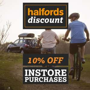 10% off everything instore @ Halfords for eSure customers