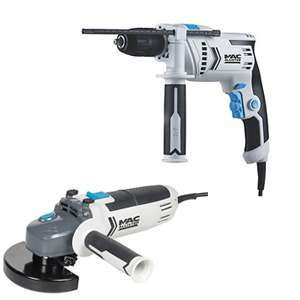 2 for £38 on Selected Mac Allister tools @ B&Q - EG 750W Angle Grinder + 600W Hammer Drill £38 (Free C&C)