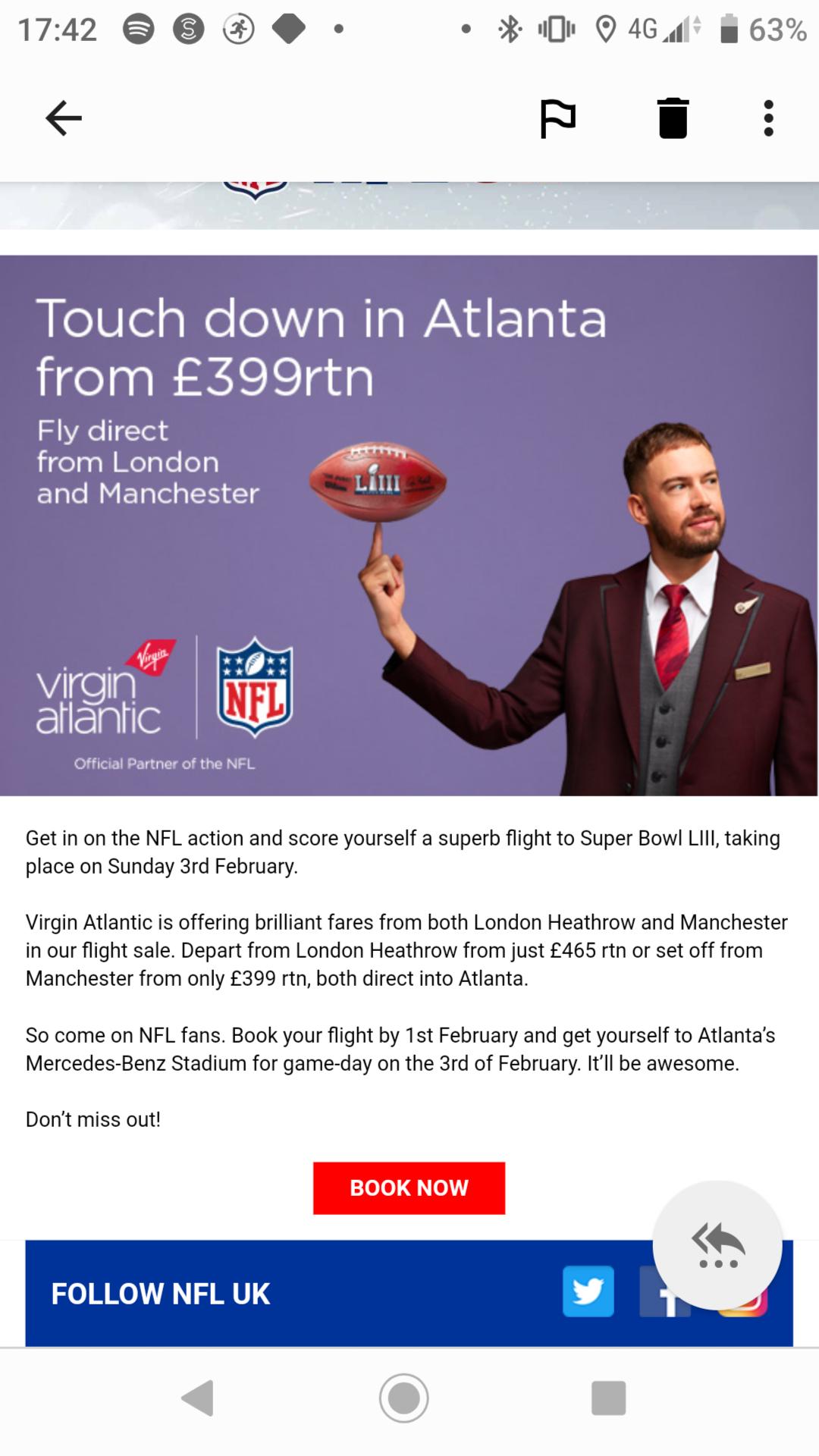 Flights to Atlanta from London Heathrow and Manchester £399 @ Virgin atlantic