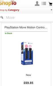 PS4 move controllers twin pack £69.85, In stock@ Shopto