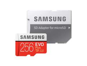 Samsung 256 GB 95 MB/s Class 10 U3 Memory Evo Plus MicroSD card with Adapter £50 @ Amazon