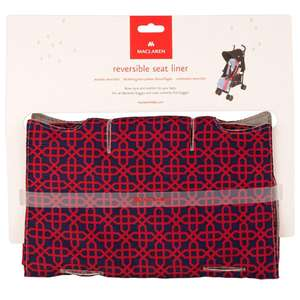 Maclaren Reversible Baby Pushchair Liner Seat Cover Washable Navy/Red - £10.98 Delivered at Brooklyn Trading