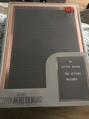 Primark A4 letter board with 292 letters included £2