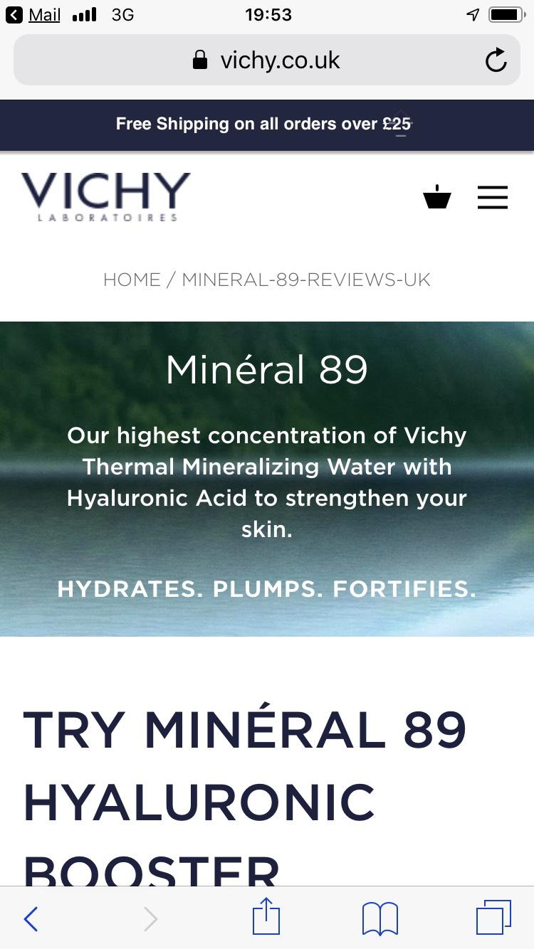 Free Vichy Minéral 89 Water Sample @ Vichy